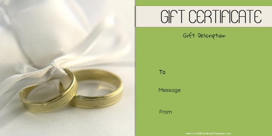 Free printable anniversary gift vouchers customize online anniversary gift certificate with a picture of two rings yadclub