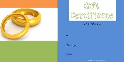 Anniversary gift certificate template