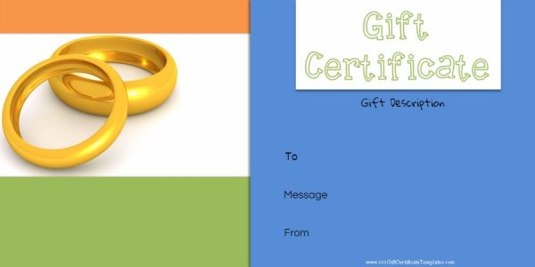 Anniversary gift certificate template