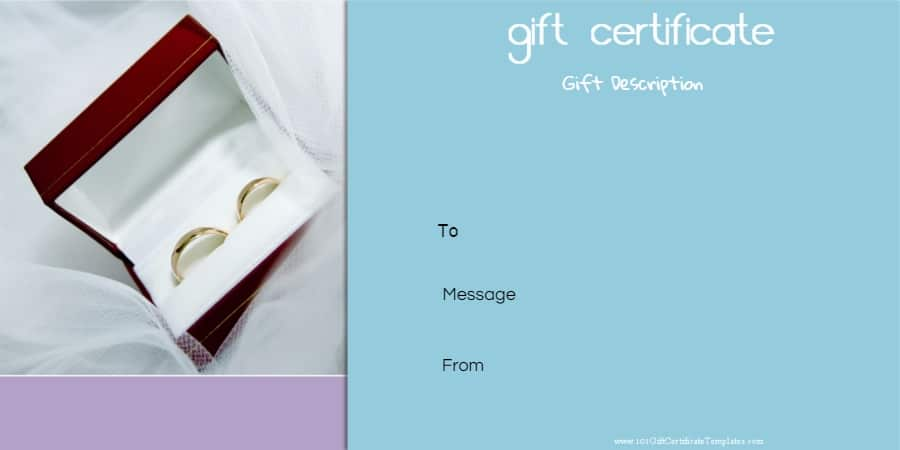 Anniversary Gift Certificate Templates  Anniversary Certificate Template