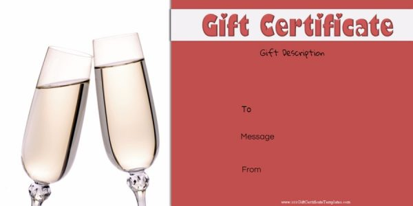 Anniversary gift certificate voucher