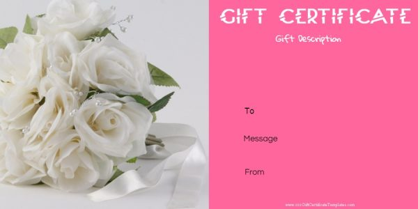 Wedding gift voucher