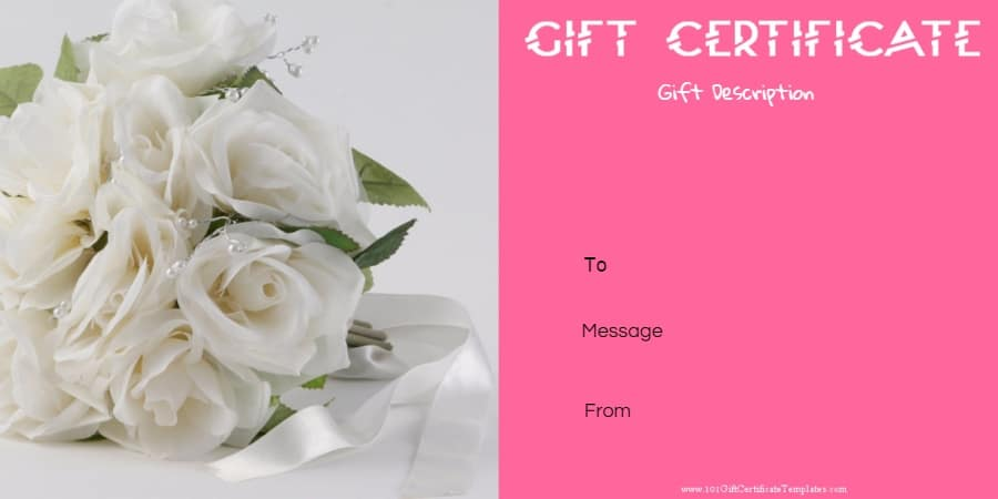 Free Printable Anniversary Gift Vouchers Customize Online – Template for a Voucher