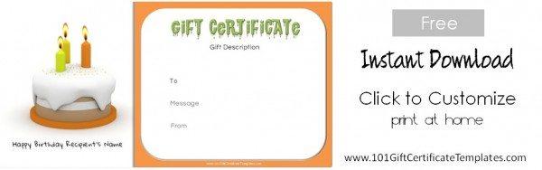 Gift certificate maker