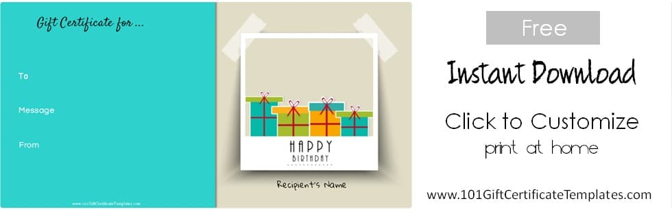 Happy birthday gift template