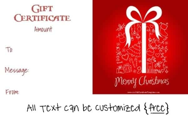 Free Editable Christmas Gift Certificate Template | 23 Designs
