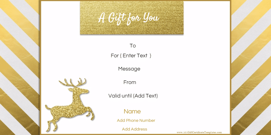 High Quality Christmas Gift Certificate Template