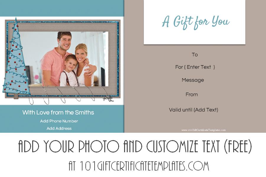 Free Editable Christmas Gift Certificate Template Designs - Diy christmas gift certificate template