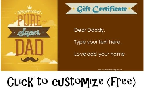fathers day gift certificate