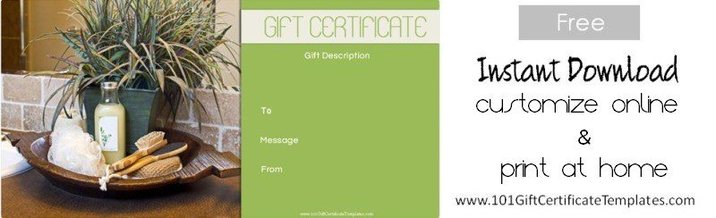 Spa gift certificates spa voucher customize print spa gift voucher customize print gift certificate free template yelopaper Image collections