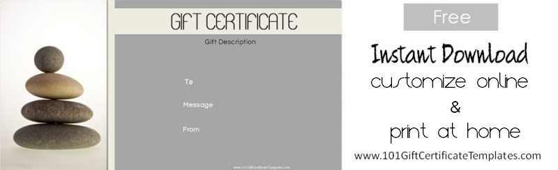 Gift Certificate Free Template  Gift Certificate Free Templates