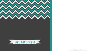 gift certificate with a black background with a zig zag patterns