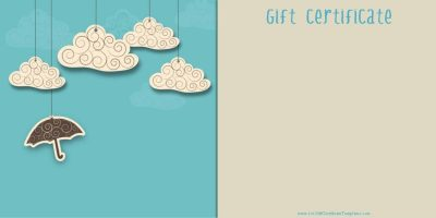 free printable gift card which you can customize before you print