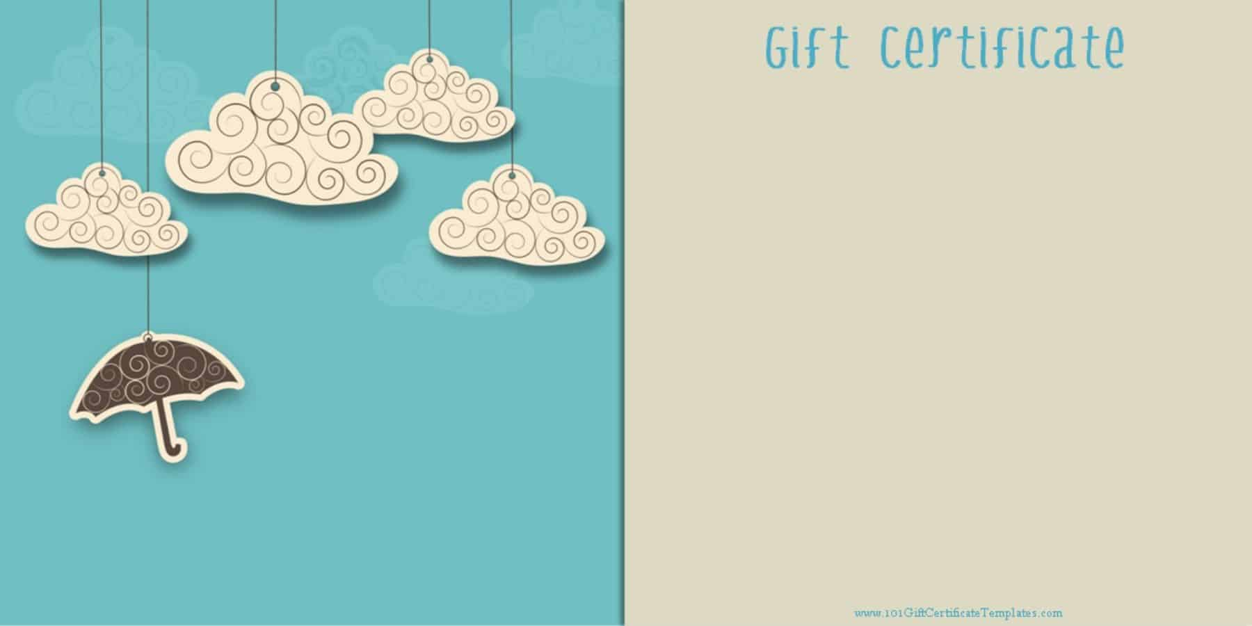 Printable gift certificate templates free printable gift card which you can customize before you print yadclub Gallery