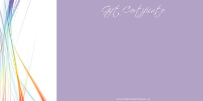 gift card with a lavendar background