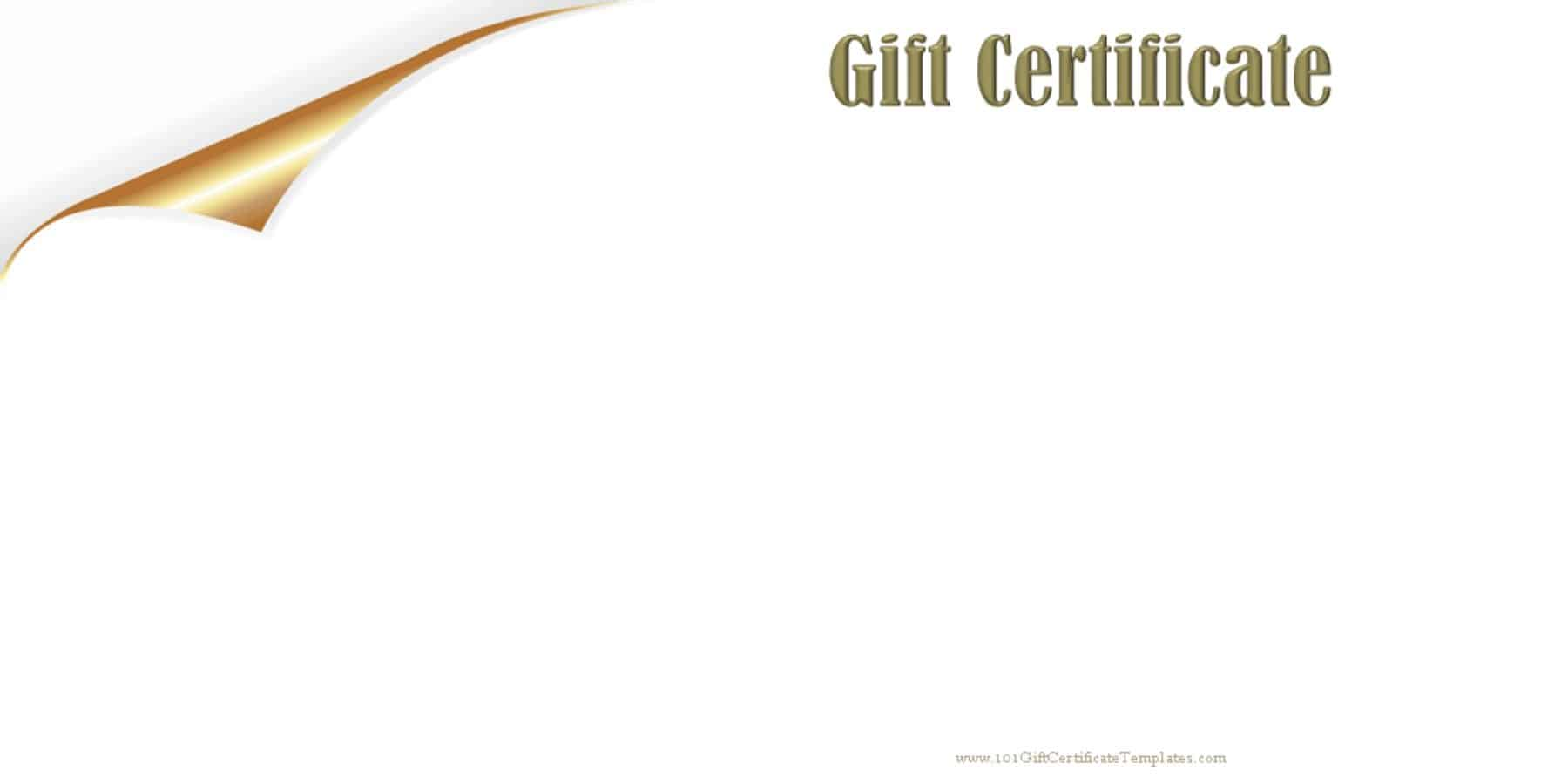 Blank Gift Certificate With White Background CUSTOMIZE U0026 PRINT  Printable Gift Vouchers Template