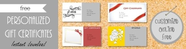 Free Gift Certificate Template Designs Customize Online Then - Free customizable gift certificate template