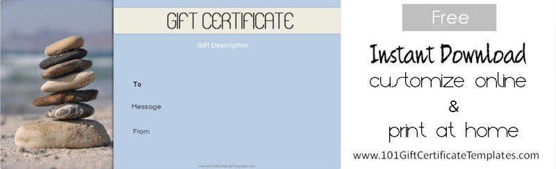 Spa gift certificates massage gift certificate template yadclub Choice Image