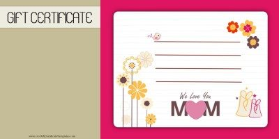Mothers day gift certificate templates mothers day gift certificate template 1 yadclub Choice Image