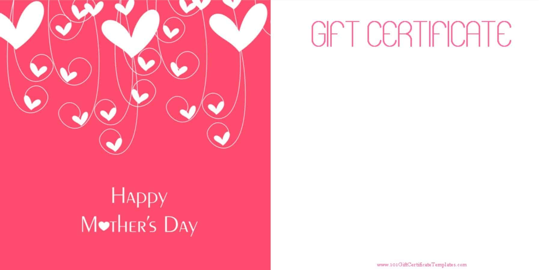 Mothers day gift certificate templates yadclub Choice Image