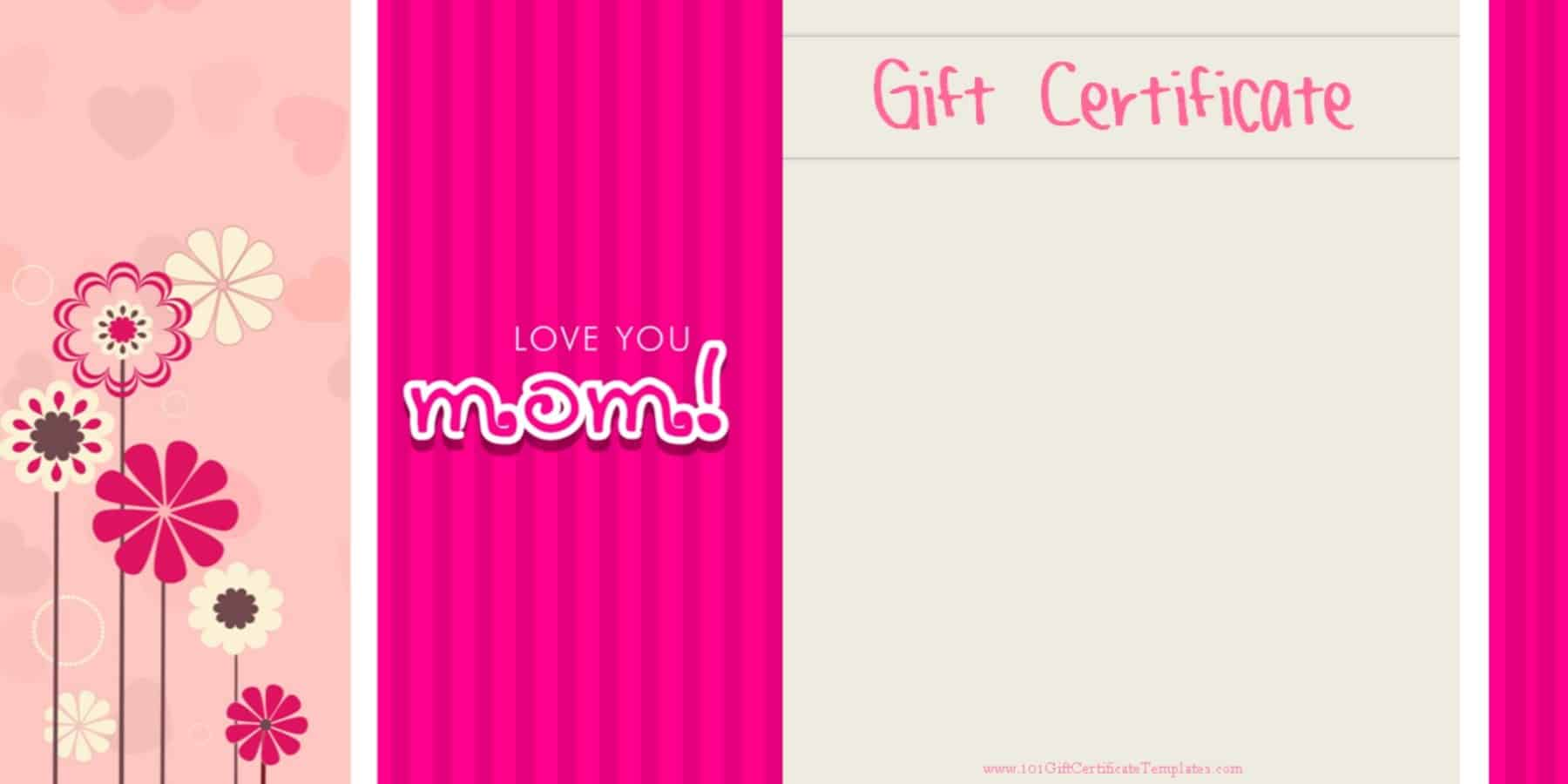 mother u0026 39 s day gift certificate templates