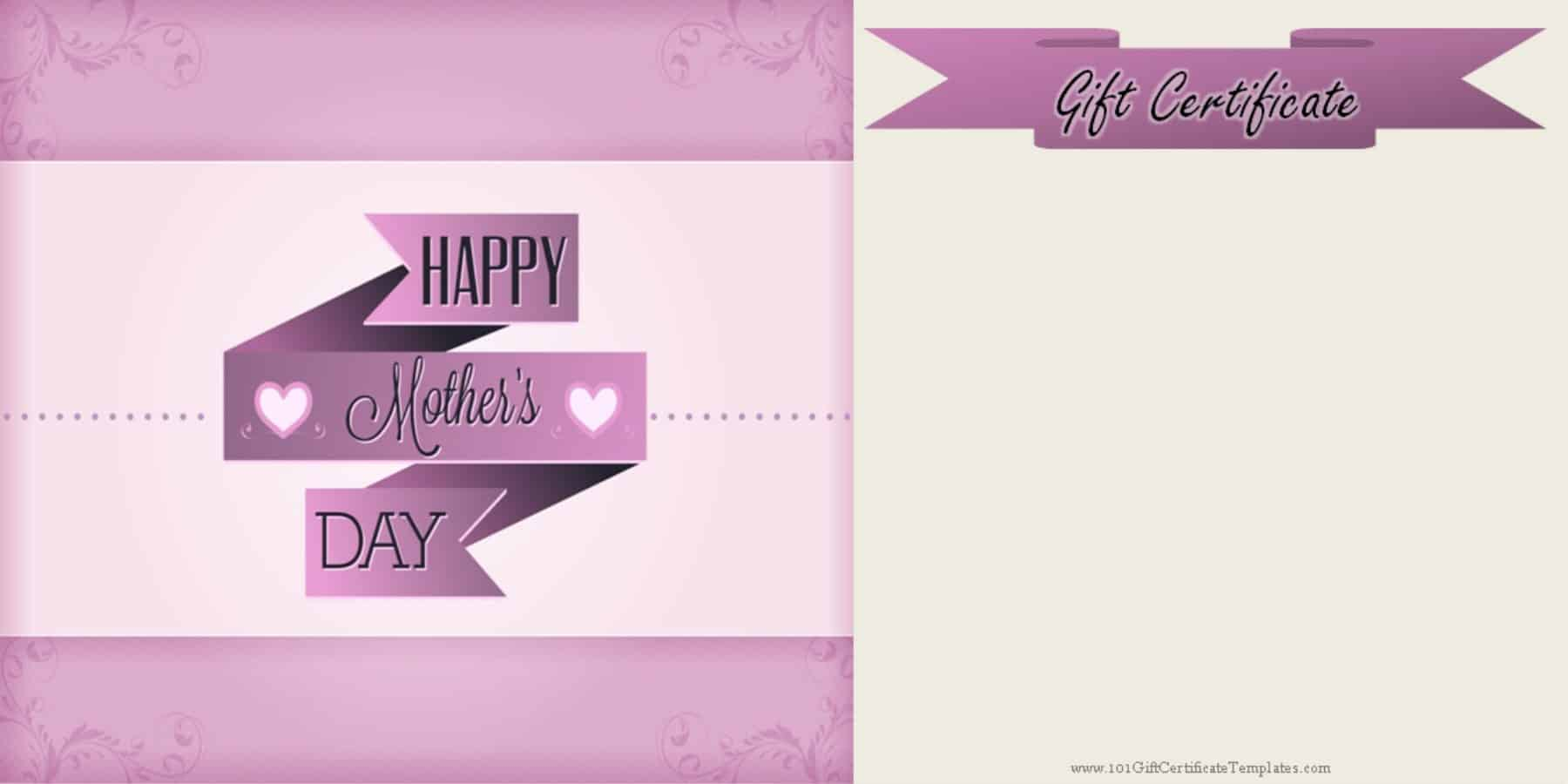 Mothers day gift certificate templates mothers day gift ideas yadclub Choice Image