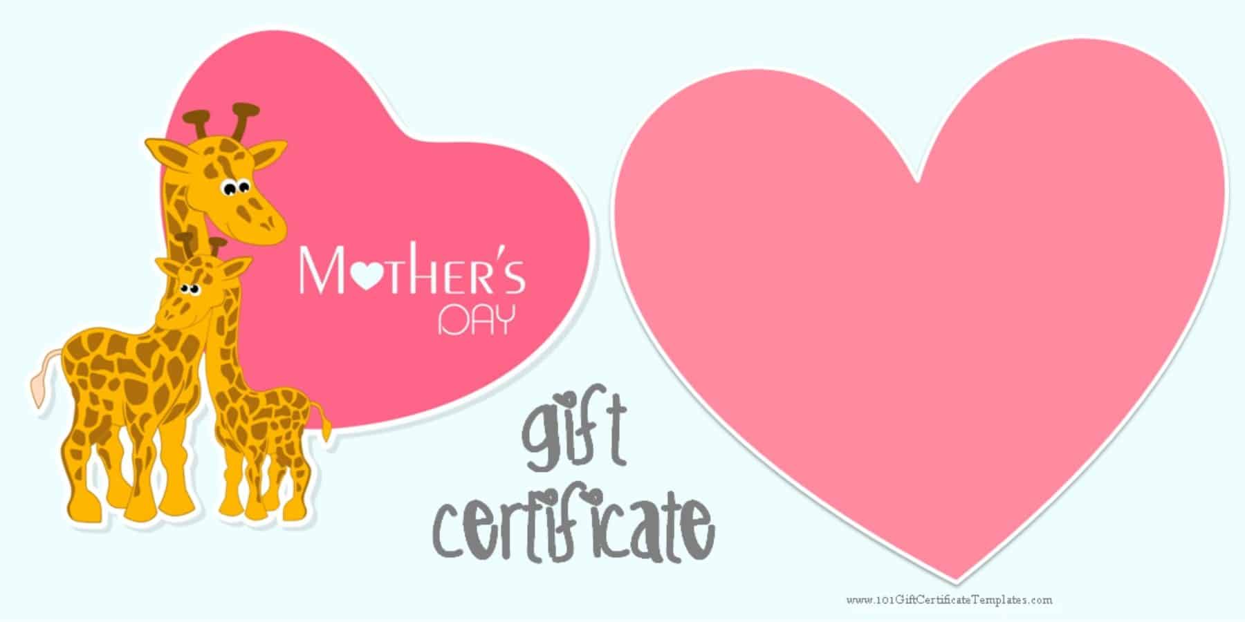 Mother 39 S Day Gift Certificate Templates