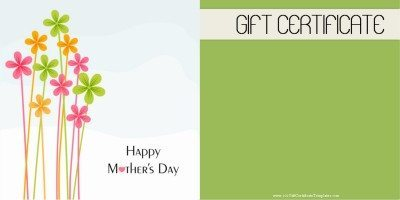 Free Printable Mothers Day Gift Certificate