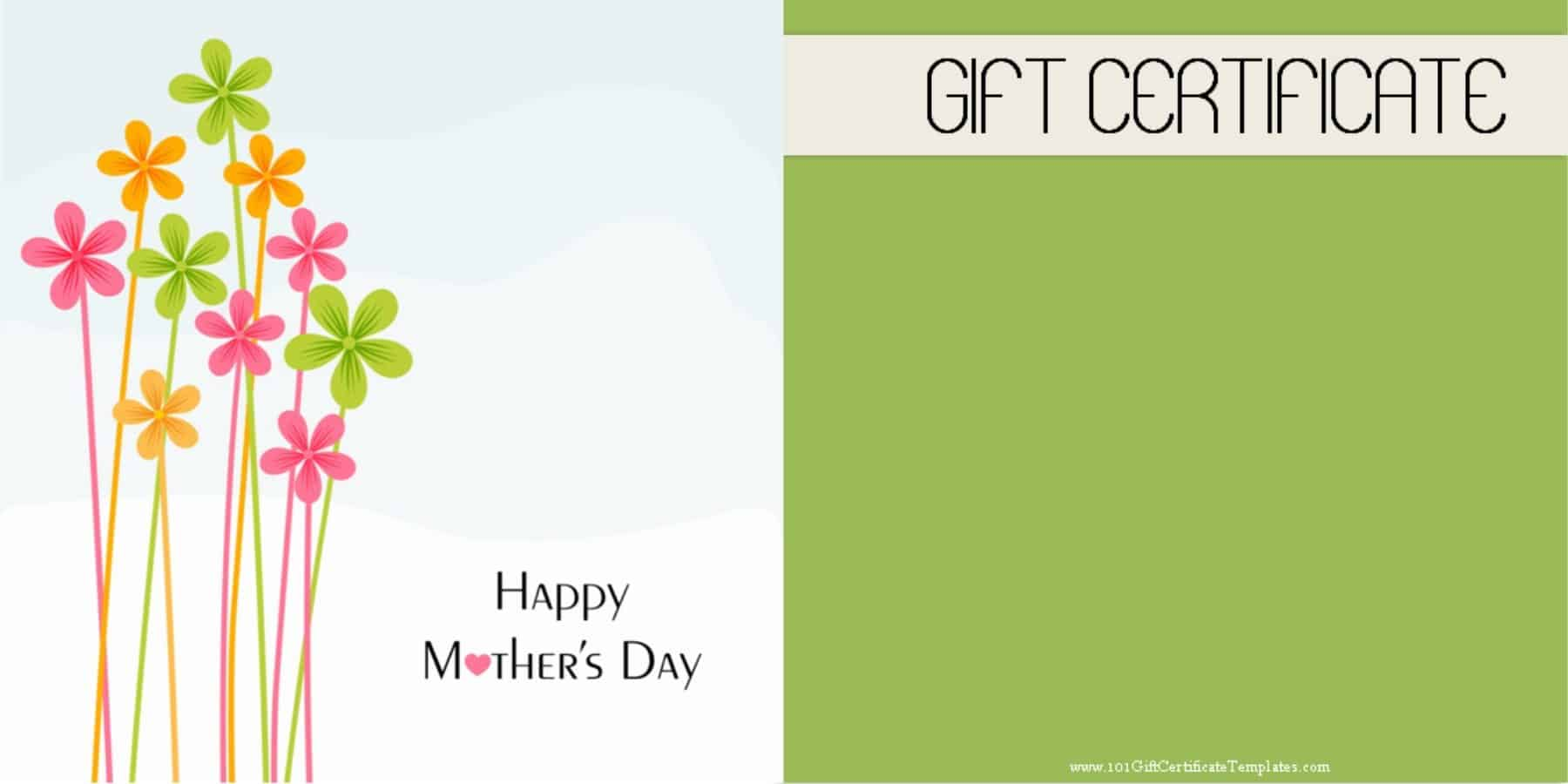 Mothers day gift certificate templates free printable mothers day gift certificate xflitez Choice Image