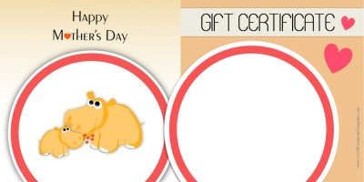 Free Printable Mothers Day Gift Voucher
