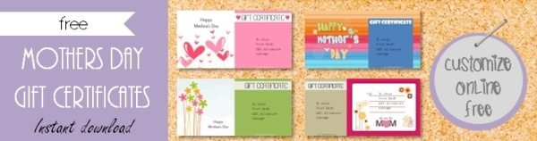 Mothers day gift certificate templates mothers day gift certificate yelopaper Images