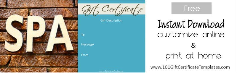 Spa gift certificates yadclub Images