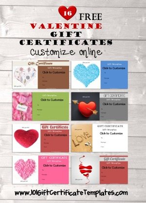 Valentines Day Gift Certificate Templates