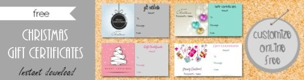 Free gift certificate template 101 designs customize online christmas gift certificates yadclub Images