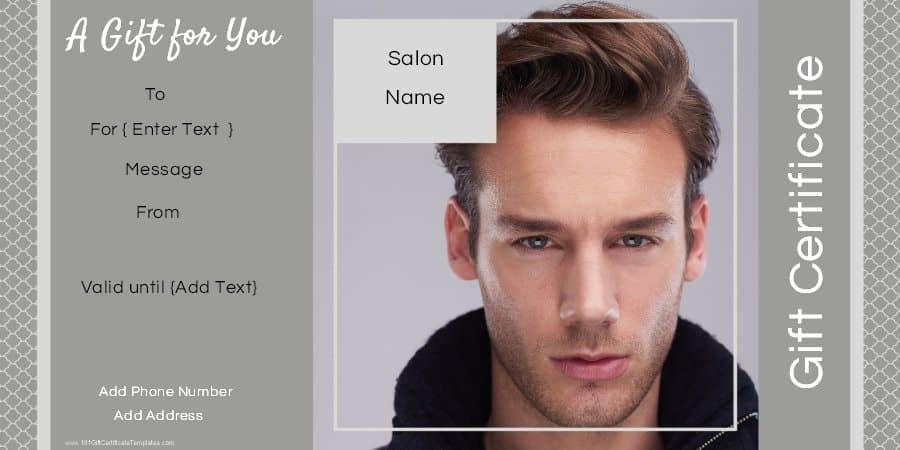 Gift certificate templates for a hair salon hair salon gift certificate template gift certificate for a hair salon yadclub Gallery