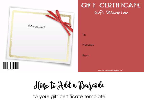 How to add a barcode to your gift certificate template