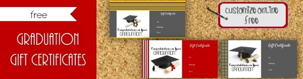 Graduation gift certificate template free customizable graduation gift certificate template free yelopaper Choice Image