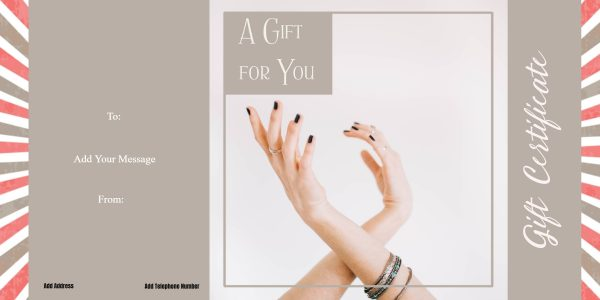 Nail voucher template free