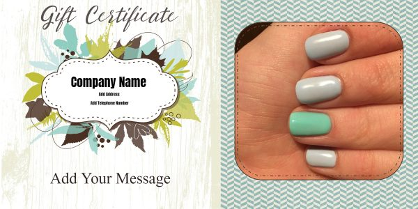 Nail gift certificate