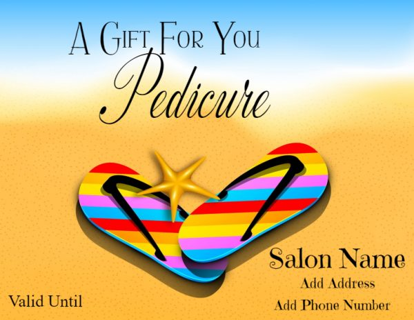 Pedicure gift certificate
