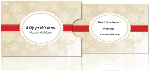 Free Christmas gift card holder template