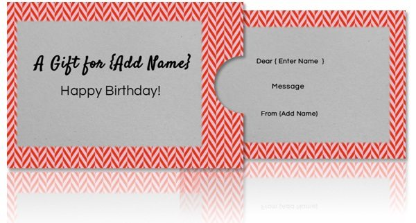 diy gift card with holder
