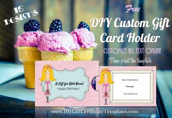 Free custom gift card holders