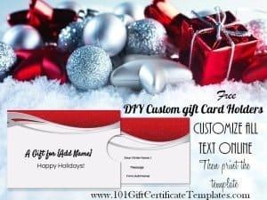 DIY Christmas gift card holders