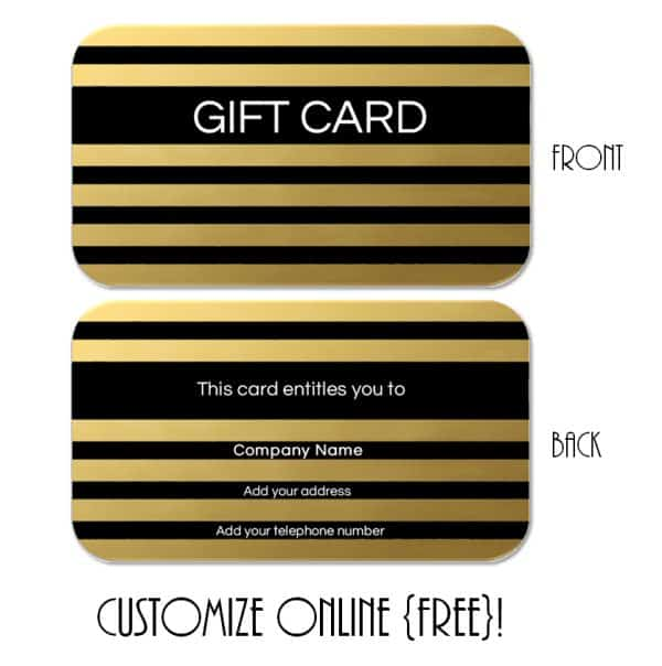 Black and gold gift certificate