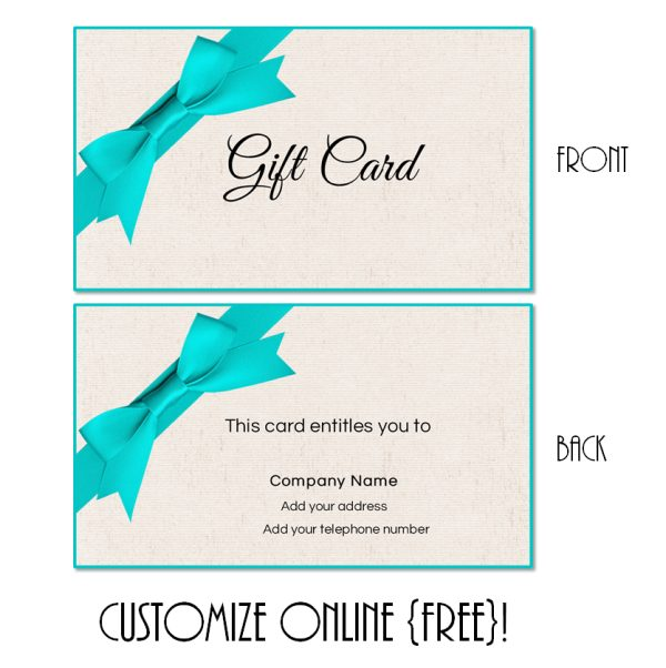 gift certificate with ribbon and bow