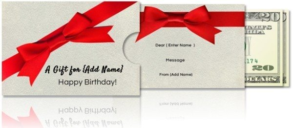 gift money envelope template