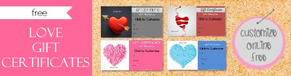 Love Gift Certificate Template