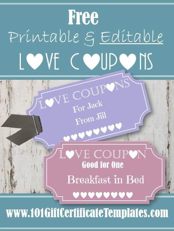 free editable love coupons for him or her