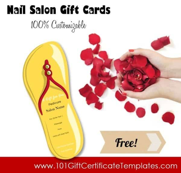 nail salon gift certificates free nail salon gift certificates